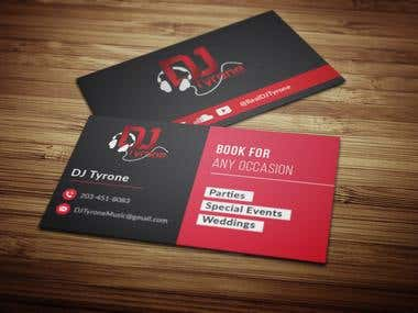 Business card For a DJ