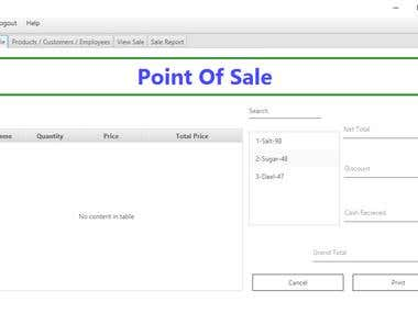 Store Management and Point of Sale System