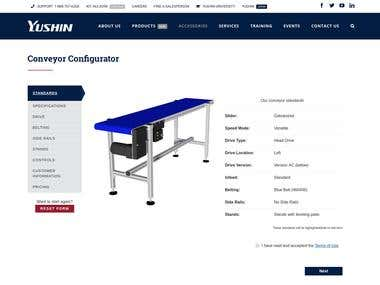 Conveyor Configurator and Pricing Tool