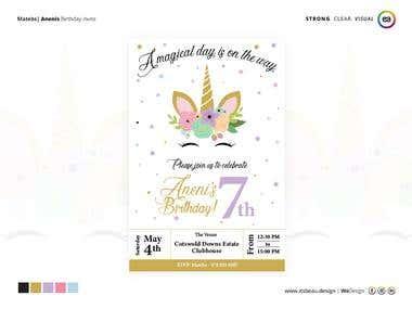 7th Birthday Invite