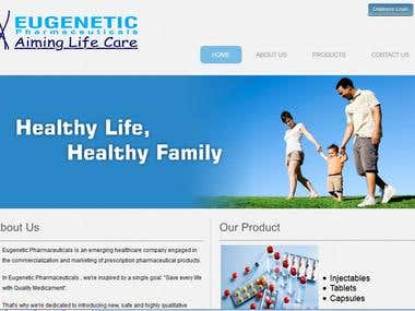 Created and Hosted website of Eugenetic Pharmaceuticals