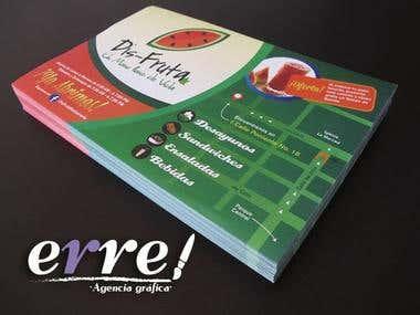 Diseño de Flyer y Carta de Menú para Restaurant