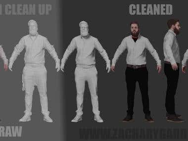 3D scan clean up