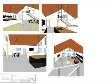 Draw existing house with remodeling in Revit