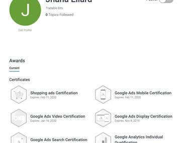 Google Ads & Analytics Certifications