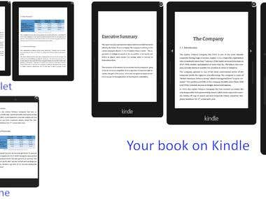 e-book formatting