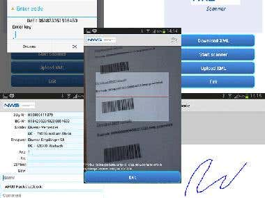 BarCode scanner for Delivery Service