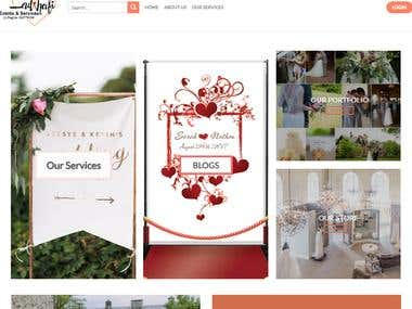Wedding site using Wordpress