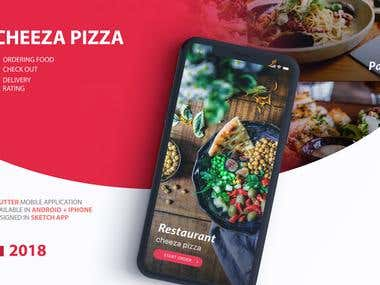 Cheeza pizza - flutter mobile native app
