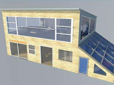 Art Studio design and 3D modeling