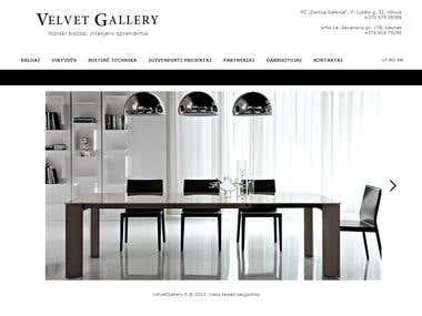Velvet Gallery website