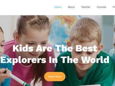 Primary School Website Template 2019