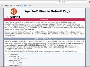 Install and configure services web Apache and nginx.