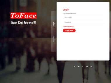 Tofaces Social Website