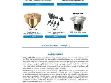 DIY Splash Pad Kits Ecommerce Website