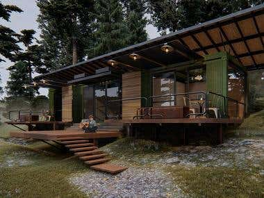 Container moutain cabin
