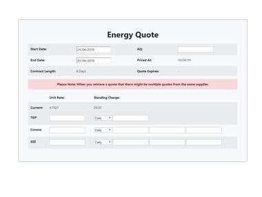 Energy Quote Generator