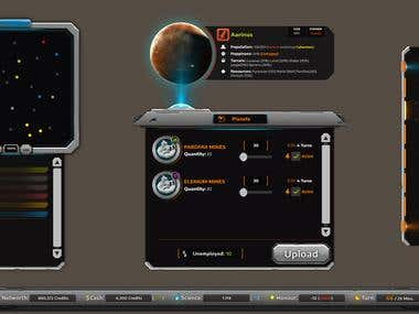 Space Strategy Game UI