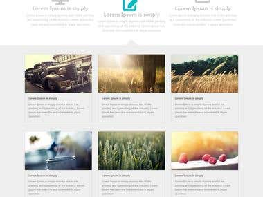 convert psd to html css bootstrap