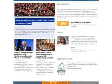 Website for UNPA orgination