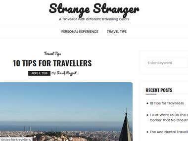Strange Stranger | A travel blogging website