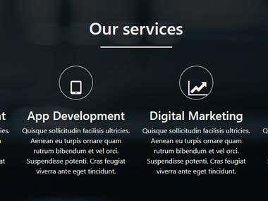 Responsive business website with bootstrap