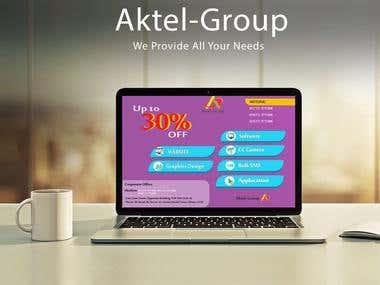 Aktel Group Ads Design