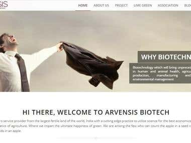 Word Press site for Agricultural research Company