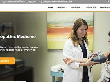 Word Press website for Health service clinic in Canada