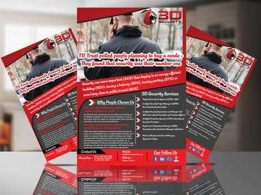 Flyer for a 3D security company