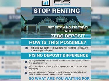 Flyer for a home deposit company.