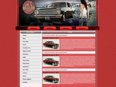 Website for Car Guarage company