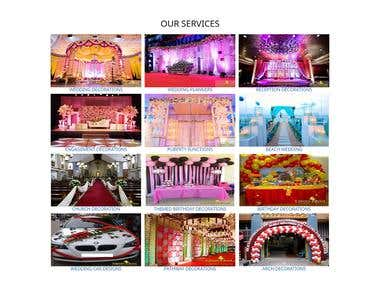Decorations and Event Organizer Website