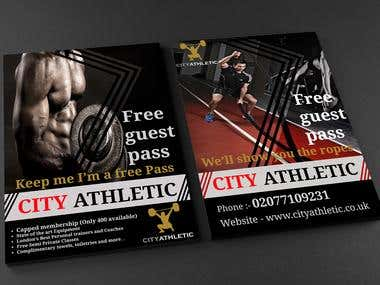 Flyer for new GYM HOUSE