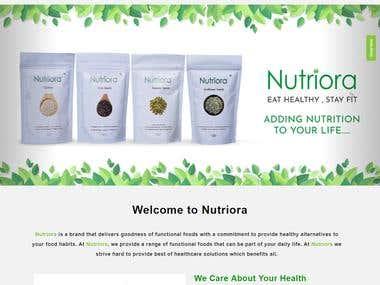 Nutriora (E-commerce WEBSITE)