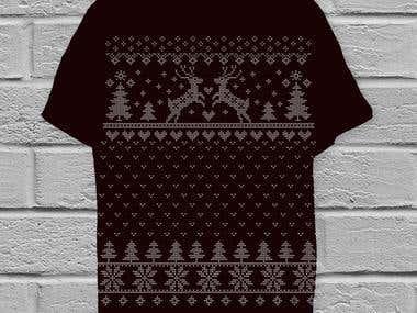 T-shirt design on Christmas theme