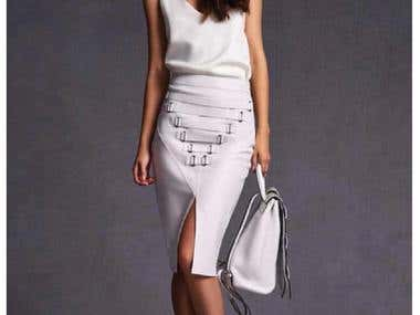 Leather - Pencilskirt - Set