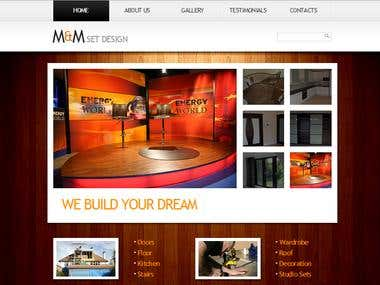 M&M Set Design - Website