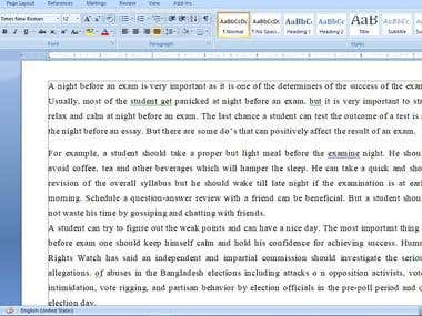 Essay for school.