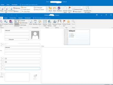 Automatic Creation of Contact and Calendar Items in Outlook