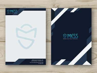letterhead design for'' MESS'' company