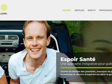 Création du site espoir-sante.com