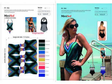 Sublimated design for swimsuit