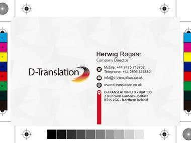 Tarjetas de presentación D-Traslations
