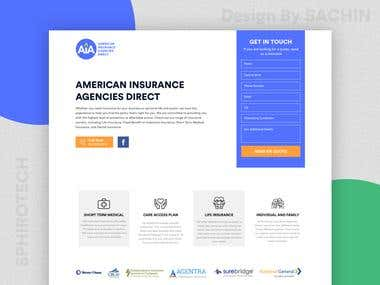 Baker Health Insurance Landing Page