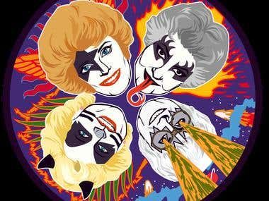 Kiss & Golden Girls mashup