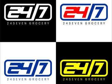 24/7 desain logo