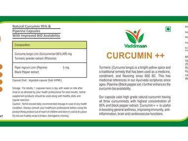 Curcumin lable design