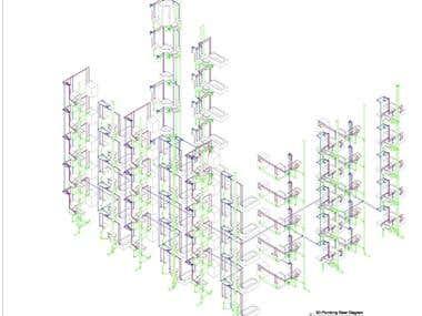 3D Plumbing Riser Diagram