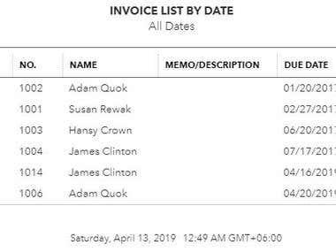 Invoice Create